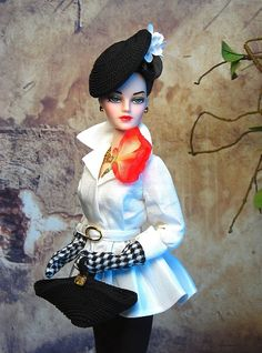 The Black Widow Madra pairs her jacket from Cherry Smash with accessories from The Couture Touch.