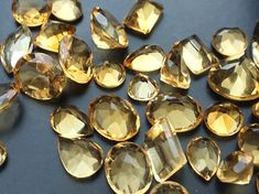 WHOLESALE 40 Pcs 45 CTW Citrine Cabochon Mix Lot by gemsforjewels