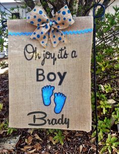 Personalized Baby Garden Flag-Welcome Home Baby Flag-Birth Announcement Sign-It's A Boy Flag-Custom Baby Gift-Burlap Baby Banner-Baby Girl by TallahatchieDesigns on Etsy