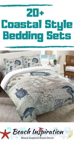 20 Coastal Bedding Sets For Beach Themed Bedroom 20 Coastal Bedding Sets For Beach Themed Bedroom Check out these beautiful beach bedding sets perfect for bringing a little ocean inside your home Coastal style bedroom Beach Bedding Sets, Coastal Bedding, Coastal Bedrooms, Comforter Sets, Beach House Bedroom, Beach House Decor, Home Bedroom, Beach Themed Bedrooms, Themed Rooms