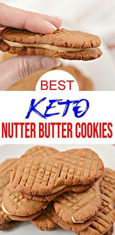Check out these keto Nutter Butter Peanut Butter Cookies! EASY keto recipe for the BEST peanut butter cookies w/ filling. Low carb diet recipe for peanut butter treats u will want to eat. Best Peanut Butter Cookies, Nutter Butter Cookies, Low Carb Peanut Butter, Peanut Butter Recipes, Peanut Butter Healthy Snacks, Keto Desserts, Keto Snacks, Dessert Recipes, Diet Recipes