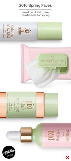 WHY WE LOVE 'EM: These 4 have everything you need to get flawless skin and a springtime glow. Hydrating Milk Mist is packed with anti-inflammatory ingredients & helps prep moisturizers. Makeup Melting Cleansing Clothes use grapeseed oil to remove even waterproof mascara. Glow Tonic is an exfoliating toner for smooth, bright skin. And Rose Oil Blend is a luxe, antioxidant-rich treatment for intensive post-winter moisture. Shop the skin-care collection to spruce up your 2016 routine.