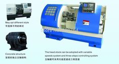 machine tool 2 axis CNC lathe machine7.5kw spindle 500mm turning diameter  bore  70mm