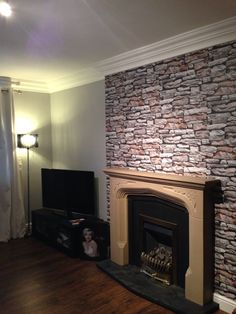 Fireplace make over using plastikote spray paint from b and q £7 ...