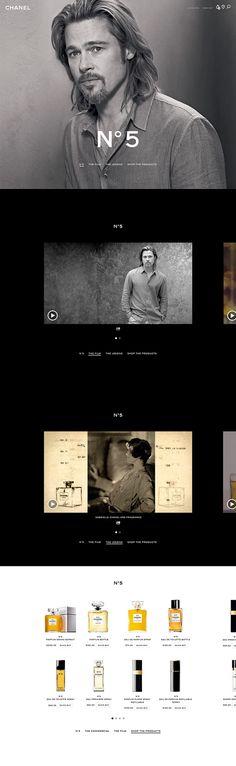 Chanel: Fragrance & Beauty on Web Design Served