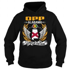 I Love Opp, Alabama - Its Where My Story Begins T-Shirts
