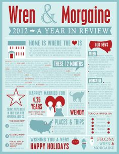 Madcap Frenzy: graphic design, diy, papercrafts and everything in-between: 2012: A Year in Review infographic style letter