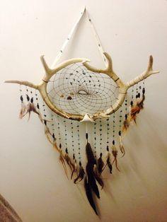 Amazing XL deer antler dream catcher. by Dreams4Ashlyn on Etsy
