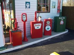 Row of Vintage Sinclair Pumps by The Upstairs Room, via Flickr