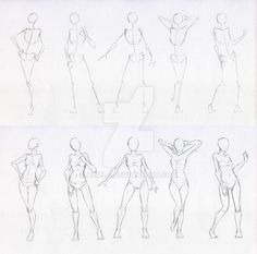 Sketches 48 - Woman standing practice 2 by Azizla.deviantart.com on @DeviantArt