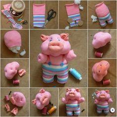 How to DIY Cute Sock Piglet thumb