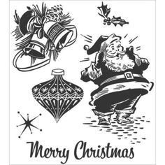 Stampers Anonymous CHRISTMAS MEMORIES CMS118 Tim Holtz Red Cling Rubber Stamps #StampersAnonymous