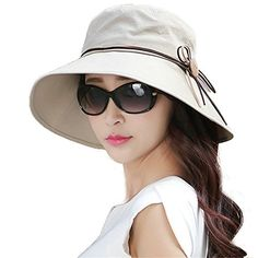 ce3f22cd1fd Boutique PageWoman Hats · New SIGGI Bucket Cord Sun Summer Beach Hat Wide  Brim for Women Foldable UPF 50 .
