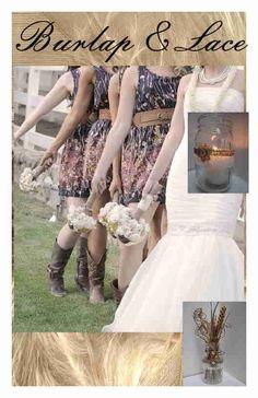10 Primitive Burlap Cream Lace Rustic Cowgirl Mason Jar Wedding Decorations F3 #BurlapBrides