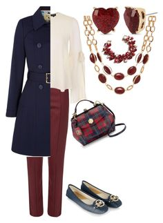 """""""Red White & Blue"""" by absolutely-amy on Polyvore featuring Wood Wood, Topshop, Yumi, Draper James, MICHAEL Michael Kors, Betsey Johnson and Talbots"""