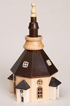 Zeidler Seiffener Church Wood Made in Germany >>> For more information, visit now : Decor Collectible Buildings and Accessories