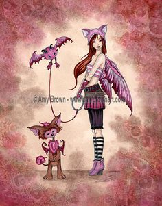 PRINTS-OPEN EDITION - Beasties and Stitchlings - Amy Brown Fairy Art - The Official Gallery