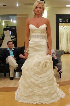 Rivini floral skirt.  Dress details: http://ow.ly/9OKMU #Weddings #SYTTD