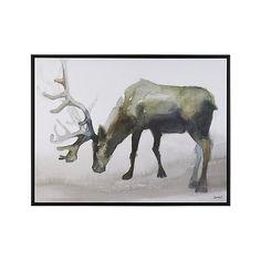 Woodland Friend Moose Canvas Print   Crate and Barrel