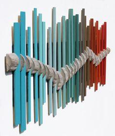 Arte de pared de madera Arte de madera Costa por BigFabDesigns