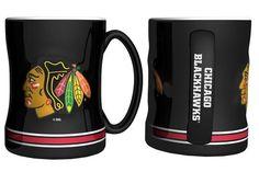 Chicago Blackhawks Coffee Mug - 14oz Sculpted Relief #ChicagoBlackhawks