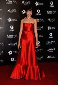 Freida Pinto Strapless Dress - Strapless Dress Lookbook - StyleBistro