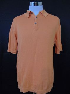 Fiesole Italy Cotton Polo Shirt Orange Short Sleeve Small #1077 #Fiesole #PoloRugby