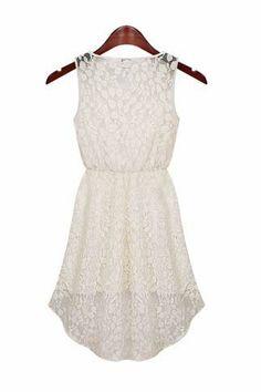 Sleeveless Hollow lace dress