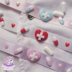 Hey, I found this really awesome Etsy listing at https://www.etsy.com/uk/listing/519886793/kawaii-hospital-chokers-menhera-hospital