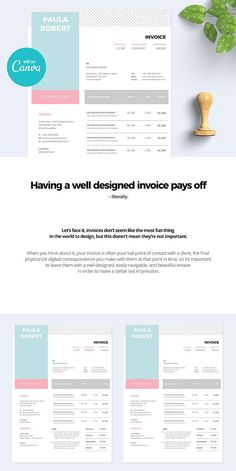 20 creative invoice proposal template designs layout pinterest