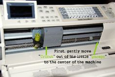 """Fantabulous Cricut Challenge Blog: Quick Tip Tuesday """"reset"""" button...good to know!"""