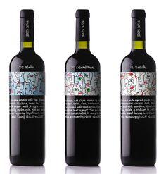 Una #etiqueta de #vino atrevida, divertida y muy #picasiana.