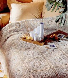 """""""Sunday Breakfast"""" bedspread with a nice diagram"""
