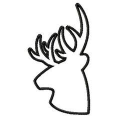Deer Line Machine Embroidery Single