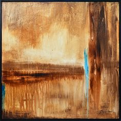 Framed Abstract Painting Large 31x31 Square by originalmodernart