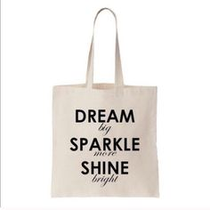 Dream Statement tote today only sale NIP, on canvas, perfect for any occasion, vacation with this, make statement with this tote ###price not to drop automatically so please do not wait for it, reasonable offers via button accepted T&J Designs Bags Totes