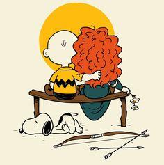 E o Charlie Brown conseguiu conquistar a garotinha ruiva. Ou quase isso