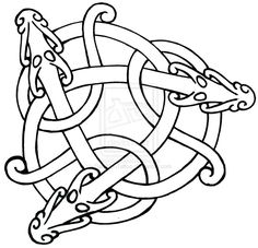 Celtic dragon knot design