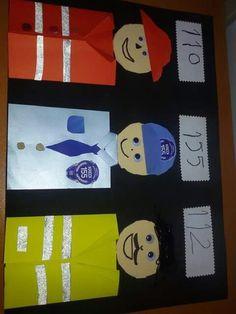Fire truck craft idea for kindergarten Art For Kids, Crafts For Kids, Arts And Crafts, Paper Crafts, Diy Paper, Fire Truck Craft, Community Helpers Crafts, Truck Crafts, Puzzle Crafts