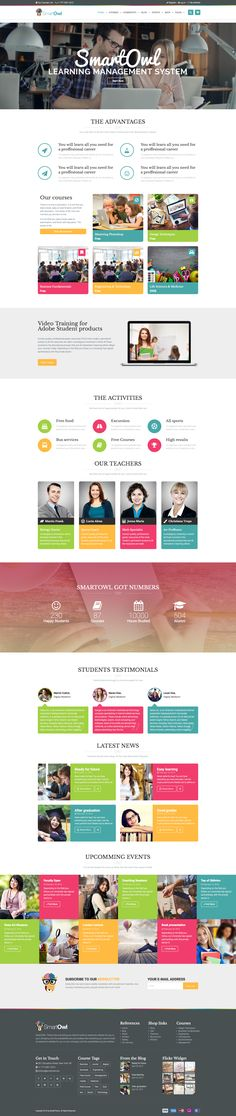 LMS / Course / eLearning / Education / Events / School / University / Academy WordPress Theme by modeltheme Wordpress Theme, Ux Design, Design Ideas, Site Inspiration, Site Vitrine, Mega Menu, University, Singles Events, Event Page