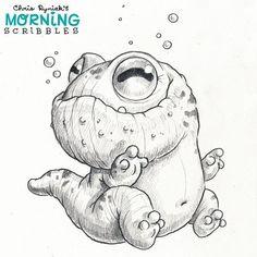Lumpy Salamander  #morningscribbles