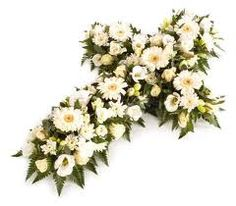 Cross funeral flower