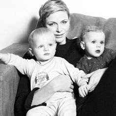 Princess Charlene with Princess Gabriella and Prince Jaque of Monaco ♡ 16.3.2016 Credits dosesofgrace,Paris match
