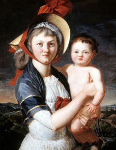 Portrait of Sophie Madeleine Dalmas (Mrs. du Pont) and her Daughter Victorine du Pont - Winterthur, Women's March On Versailles, Rococo, Couple Painting, French Revolution, Buy Prints, Mother And Child, Portrait Art, Beautiful Paintings