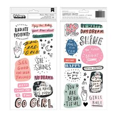 Hey Dreamer, you'll love these Puffy Phrases and Icons Thickers from the All Heart Collection by Crate Paper. There are 54 glossy puffy stickers included with Stickers Phrase, Stickers Alphabet, Crate Paper, Washi, Retro Wedding Hair, Heart Template, All Heart, Inspirational Phrases, Paper Hearts