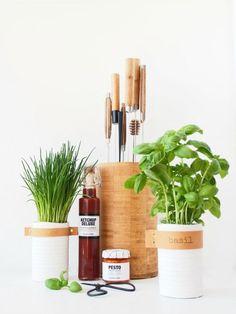 DIY Leather Herb Tags Tutorial