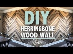 DIY Barn Wood Herringbone Wall Treatment and a Giveaway! - Shanty 2 Chic