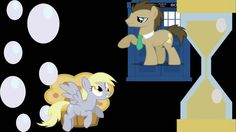 mlp doctor whooves and derpy   MLP - Wallpaper - Design 3 - Dr. Whooves + Derpy by WolfOfRana