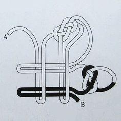 Cómo chino nudo corredizo - diagramas de ligamento arco nudo chino, juego arco tutorial ╭ ★ red en cubitos