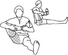 Stretching the upper hamstrings and hip: Need to remember this. Second day of pain because of too little stretching!
